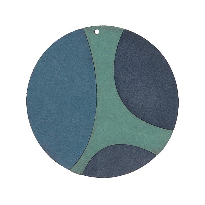 Подвеска деревянная Астра Круг, цвет: голубой, бирюзовый, диаметр 59 мм7701018_2175-01Подвеска Астра Круг выполнена из дерева. С помощью этой подвески вы сможете украсить, альбом, одежду, бижутерию или другие предметы ручной работы. Подвеска Астра Круг имеет оригинальный и яркий дизайн.