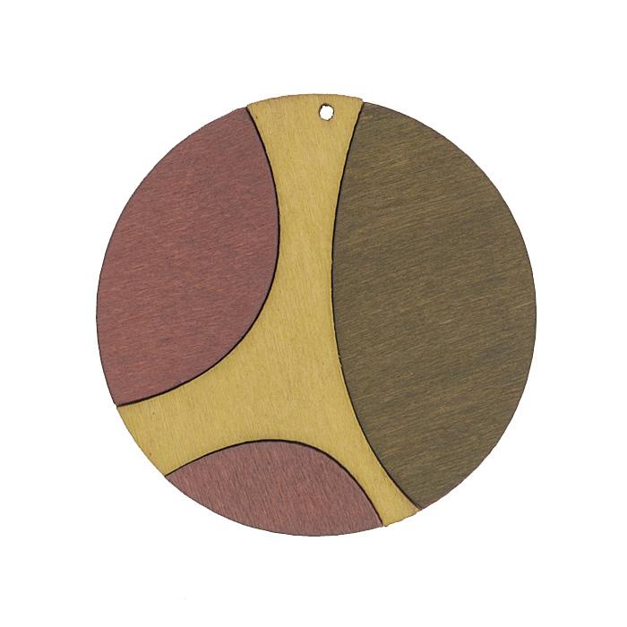 Подвеска деревянная Астра Круг, цвет: серый, бордовый, желтый, диаметр 59 мм7701018_2175-02Подвеска Астра Круг выполнена из дерева. С помощью этой подвески вы сможете украсить, альбом, одежду, бижутерию или другие предметы ручной работы. Подвеска Астра Круг имеет оригинальный и яркий дизайн.