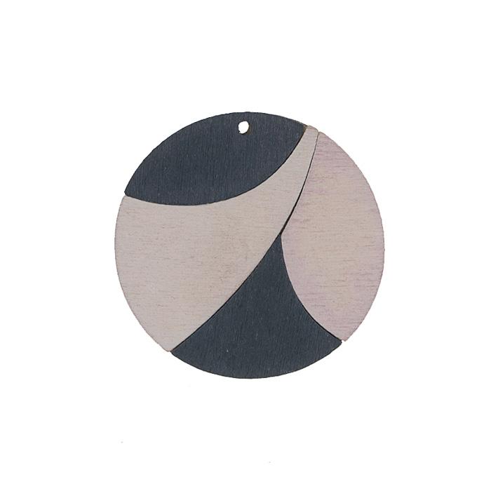 Подвеска деревянная Астра Круг, цвет: черный, белый, диаметр 37 мм7701013_2165-04Подвеска Астра Круг выполнена из дерева. С помощью этой подвески вы сможете украсить, альбом, одежду, бижутерию или другие предметы ручной работы. Подвеска Астра Круг имеет оригинальный и яркий дизайн.