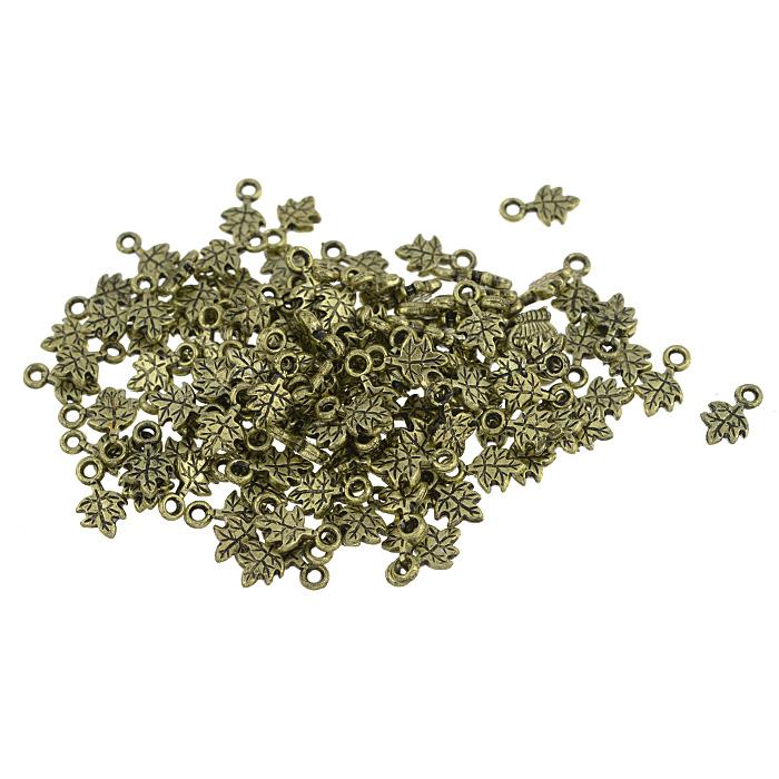 Подвеска металлическая Астра Листочек, цвет: золотистый, 8 мм х 12 мм, 150 шт7704937_золото