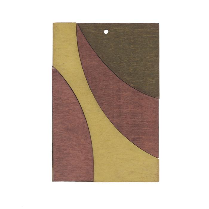 Подвеска деревянная Астра Прямоугольник, цвет: серый, бордовый, желтый, 65 мм х 44 мм7701015_2172-04Подвеска Астра Прямоугольник выполнена из дерева в форме прямоугольника. С помощью этой подвески вы сможете украсить, альбом, одежду, бижутерию или другие предметы ручной работы. Подвеска Астра Прямоугольник имеет оригинальный и яркий дизайн.