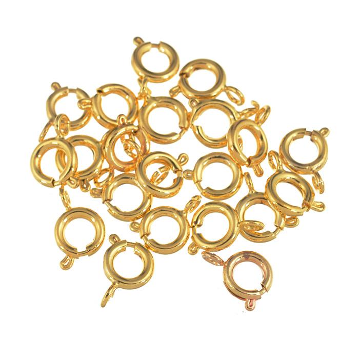 Застежка для бус Астра Кольцо, цвет: золото, 6 мм, 20 шт7704272Застежка для бус Астра Кольцо выполнена из металла. Она очень удобна в использовании. Благодаря ей легко снимать и надевать бижутерию. Изготовление украшений - это занимательное хобби, это реализация творческих способностей рукодельницы, это возможность создания неповторимого индивидуального подарка.