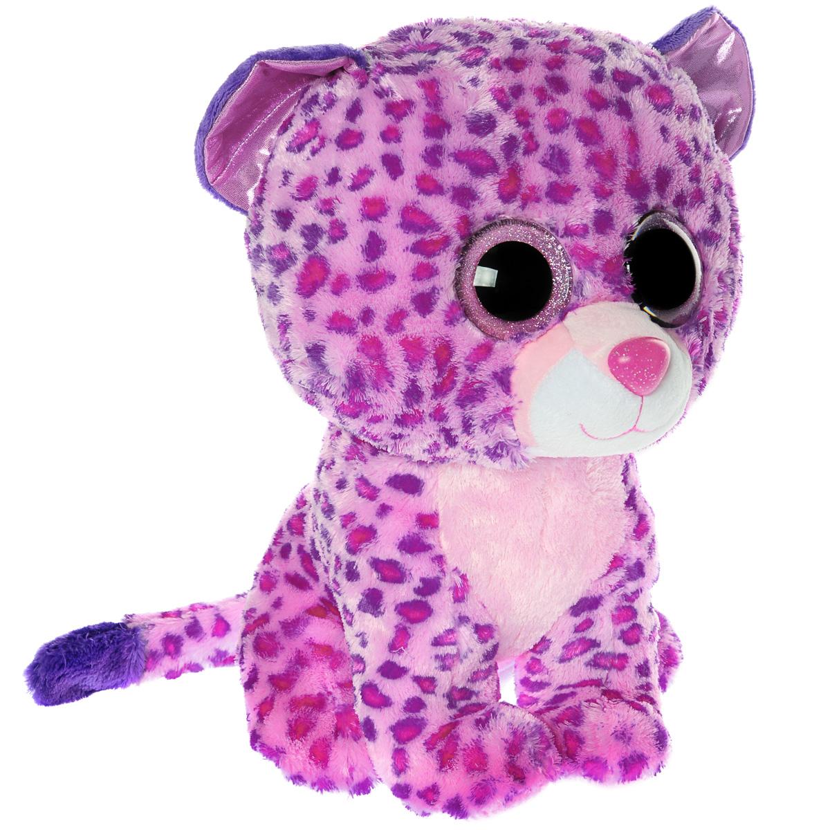 Мягкая игрушка Beanie Boos Леопард Glamour, 23 см36985Очаровательная мягкая игрушка Beanie Boos Леопард Glamour, выполненная в виде милого розового котенка леопарда, непременно вызовет улыбку и симпатию и у детей, и у взрослых. Забавный леопард с выразительными розовыми глазками изготовлен из высококачественного мягкого текстильного материала с набивкой из синтепона. Как и все игрушки серии Beanie Boos, эта игрушка изготовлена вручную, с любовью и вниманием к деталям. Удобный небольшой размер леопарда позволит брать его с собой на прогулку, и малышу не придется расставаться со своим новым другом. Удивительно мягкая игрушка принесет радость и подарит своему обладателю мгновения нежных объятий и приятных воспоминаний. Специальные гранулы, расположенные в лапках игрушки, способствуют развитию мелкой моторики рук малыша. Великолепное качество исполнения делают эту игрушку чудесным подарком к любому празднику.