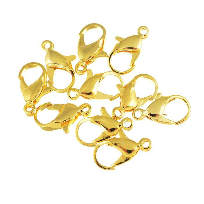 Застежка для бус Астра, цвет: золотой, 14 мм х 7 мм, 10 шт7701323Застежка для бус Астра выполнена из металла и имеет продолговатую форму. Она очень удобна в использовании. Легко снимать и надевать бижутерию. Изготовление украшений - это занимательное хобби, это реализация творческих способностей рукодельницы, это возможность создания неповторимого индивидуального подарка.