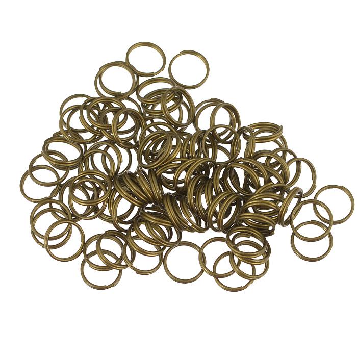 Кольцо для бус Астра, двойное, цвет: латунь, 10 мм, 100 шт7704279Двойное кольцо для бус Астра выполнено из металла. Оно очень удобно в использовании. Легко снимать и надевать бижутерию. Изготовление украшений - это занимательное хобби, это реализация творческих способностей рукодельницы, это возможность создания неповторимого индивидуального подарка.