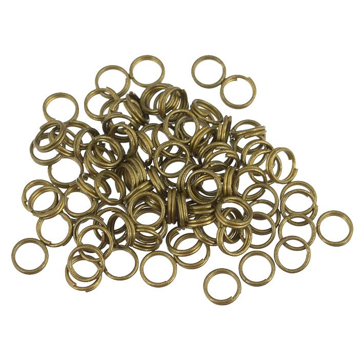 Кольцо для бус Астра, двойное, цвет: латунь, 7 мм, 100 шт7704278Двойное кольцо для бус Астра выполнено из металла. Оно очень удобно в использовании. Легко снимать и надевать бижутерию. Изготовление украшений - это занимательное хобби, это реализация творческих способностей рукодельницы, это возможность создания неповторимого индивидуального подарка.