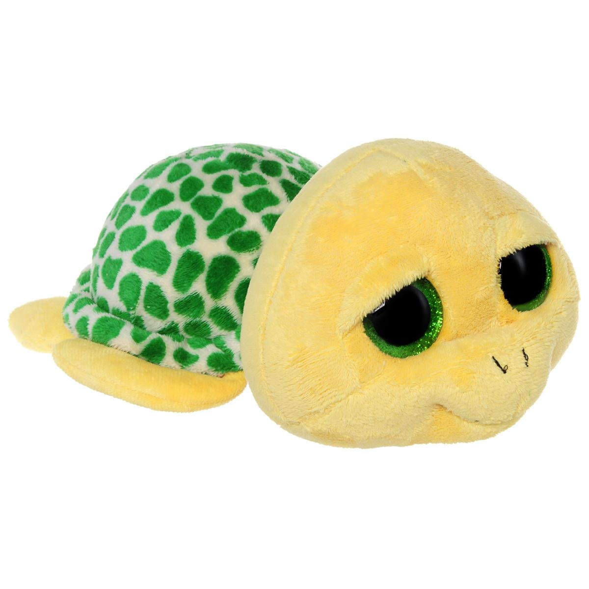 Мягкая игрушка Beanie Boos Черепашка Pokey, 45 см36807Очаровательная мягкая игрушка Beanie Boos Черепашка Pokey, выполненная в виде трогательной черепашки, непременно вызовет улыбку и симпатию и у детей, и у взрослых. Милая черепашка с выразительными искрящимися глазками изготовлена из высококачественного мягкого текстильного материала с набивкой из синтепона. Как и все игрушки серии Beanie Boos, она изготовлена вручную, с любовью и вниманием к деталям. Удивительно мягкая игрушка принесет радость и подарит своему обладателю мгновения нежных объятий и приятных воспоминаний. Великолепное качество исполнения делают эту игрушку чудесным подарком к любому празднику.