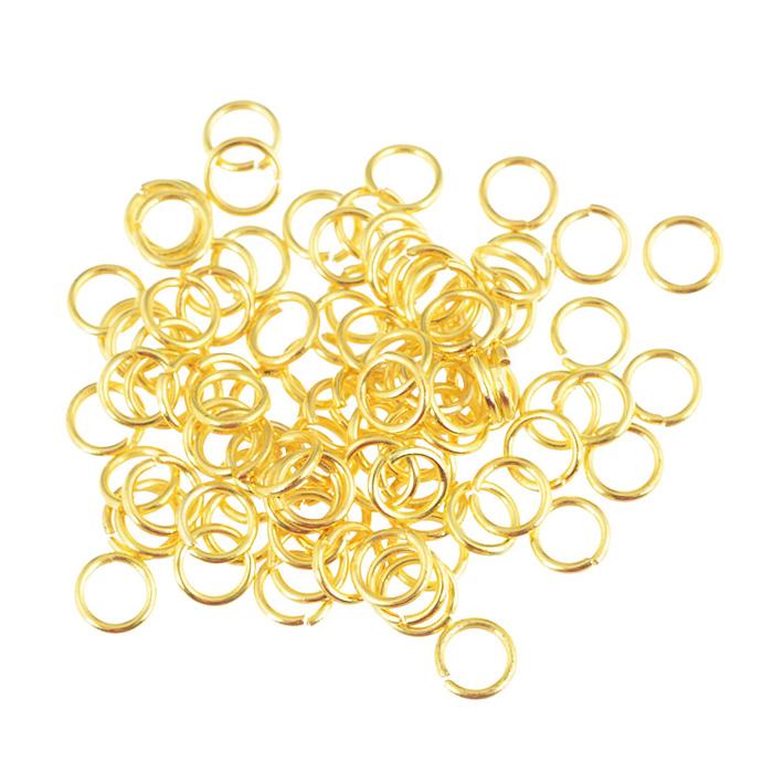 Кольцо для бус Астра, цвет: золото, 5 мм, 100 шт7704259Кольцо для бус Астра выполнено из металла. Оно очень удобно в использовании. Легко снимать и надевать бижутерию. Изготовление украшений - это занимательное хобби, это реализация творческих способностей рукодельницы, это возможность создания неповторимого индивидуального подарка.
