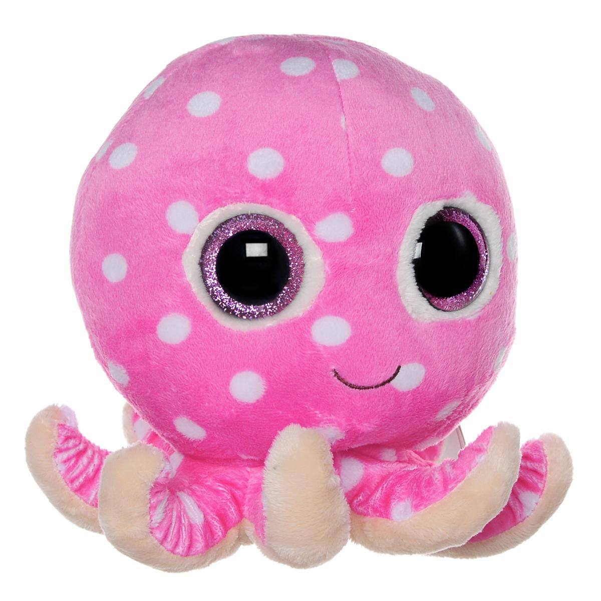 Мягкая игрушка Beanie Boos Осьминог Ollie, цвет: розовый, 22 см36983Очаровательная мягкая игрушка Beanie Boos Осьминог Ollie, выполненная в виде забавного осьминога, непременно вызовет улыбку и симпатию и у детей, и у взрослых. Трогательный осьминожек с выразительными блестящими глазками изготовлен из высококачественного мягкого текстильного материала с набивкой из синтепона. Как и все игрушки серии Beanie Boos, эта игрушка изготовлена вручную, с любовью и вниманием к деталям. Удобный небольшой размер осьминожки позволит брать его с собой на прогулку, и малышу не придется расставаться со своим новым другом. Удивительно мягкая игрушка принесет радость и подарит своему обладателю мгновения нежных объятий и приятных воспоминаний. Специальные гранулы, используемые при ее набивке, способствуют развитию мелкой моторики рук малыша. Великолепное качество исполнения делают эту игрушку чудесным подарком к любому празднику.