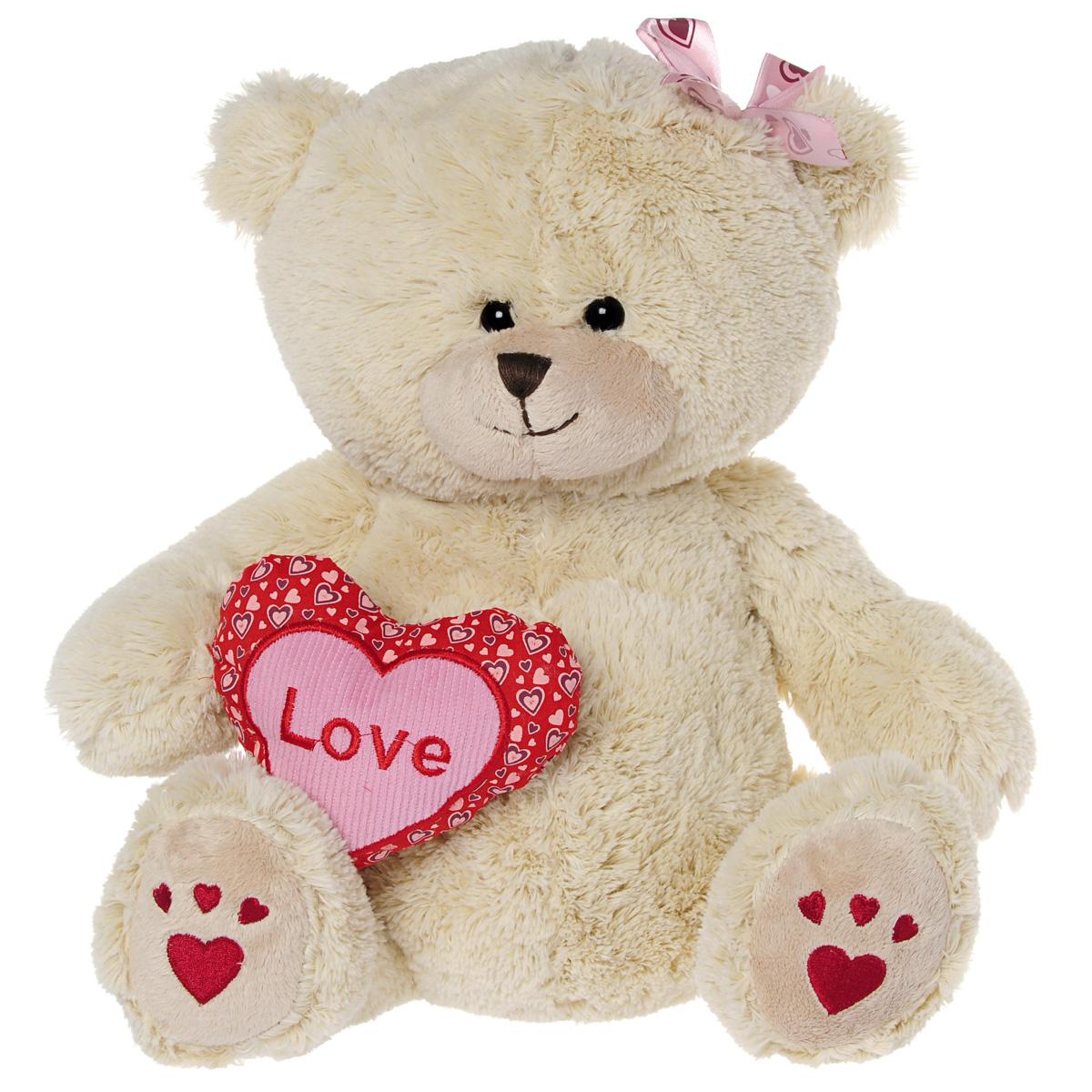 Мягкая игрушка Maxi Toys Мишка Лина с сердцем, 31 смTS-A6793-30BSОчаровательная мягкая игрушка Maxi Toys Мишка Лина с сердцем выполненная в виде трогательного медвежонка, непременно вызовет умиление и улыбку у каждого. Милая медведица Лина держит в руках сердечко с надписью Love, а ее ушко украшено розовым бантикам. Игрушка изготовлена из высококачественного мягкого искусственного меха с набивкой из синтепона. Удивительно мягкая игрушка принесет радость и подарит своему обладателю мгновения нежных объятий и приятных воспоминаний. Великолепное качество исполнения делают эту игрушку чудесным подарком к любому празднику.