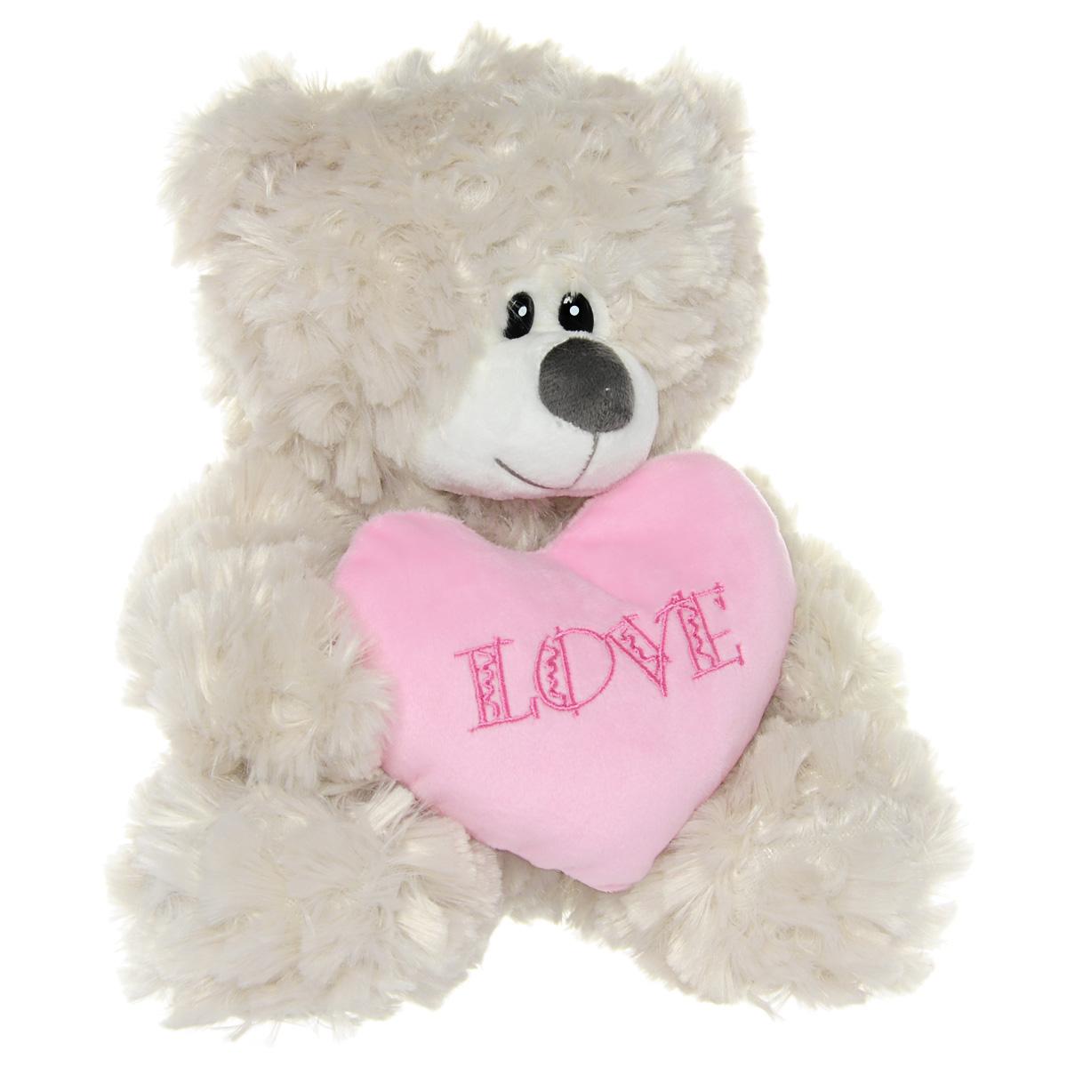 Мягкая игрушка Gulliver Мишка с розовым сердцем, цвет: кремовый, 22 см40-13-0301-1AЧудесная мягкая игрушка Gulliver Мишка с розовым сердцем, выполненная в виде милого медведя, вызовет радость как у взрослого, так и у ребенка. Медведь изготовлен из полиакрила и модакрила с набивкой из синтепона. Глазки игрушки пластиковые; в лапках медведь держит розовое сердечко с надписью Love. Игрушка удивительно приятна на ощупь. Такая игрушка станет чудесным подарком к любому празднику.