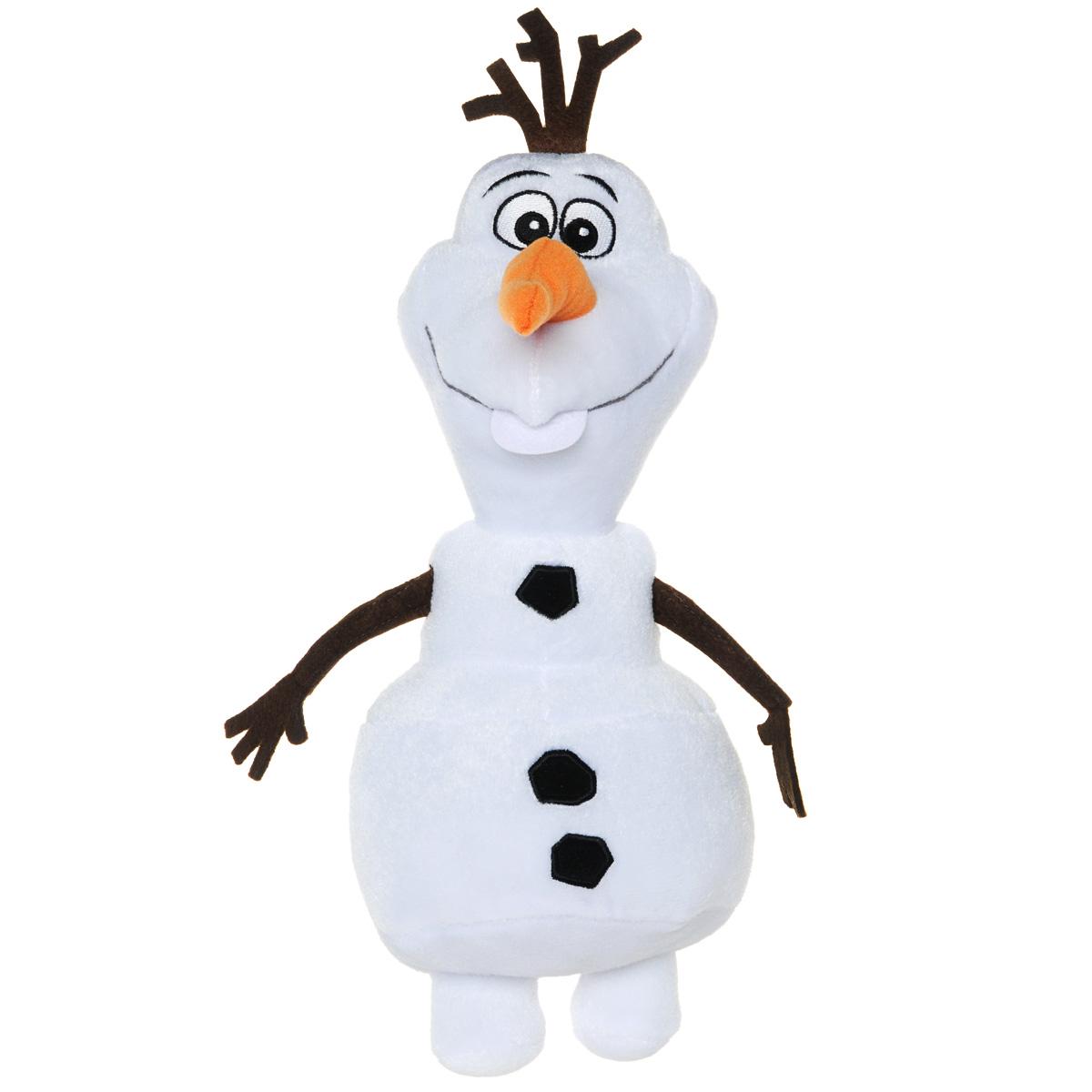 Мягкая игрушка Disney Снеговик Олаф, 25 см1300336Мягкая игрушка Disney Снеговик Олаф станет любимой игрушкой вашего ребенка. Она выполнена в виде Олафа - добродушного снеговика из мультфильма Холодное сердце от компании Дисней. Игрушка удивительно приятна на ощупь. Она изготовлена из мягкого текстильного материала, глазки вышиты нитками, ручки и макушка снеговика выполнены из фетра. Чудесная мягкая игрушка принесет радость и подарит своему обладателю мгновения нежных объятий и приятных воспоминаний.