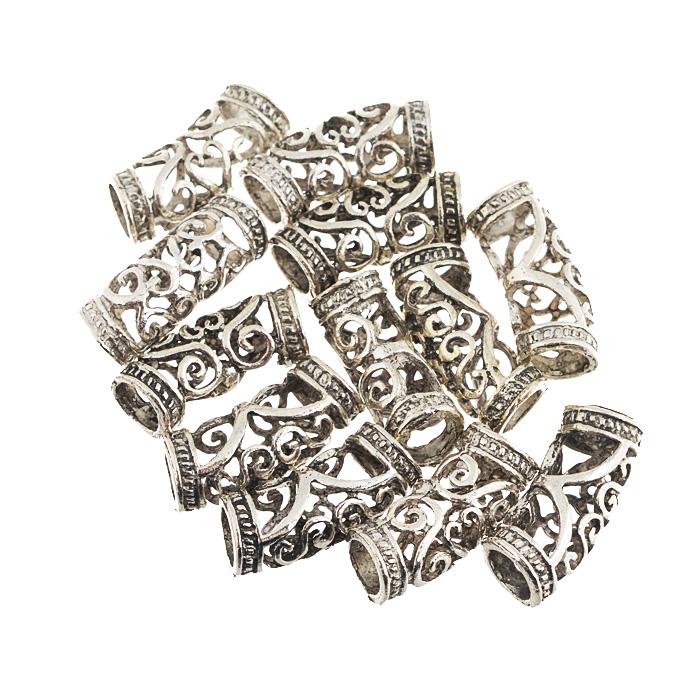 Декоративный элемент Астра, цвет: серебристый, 25 мм х 10 мм, 12 шт7705776Набор Астра состоит из 12 декоративных элементов, изготовленных из металла и оформленных узором. С их помощью вы сможете украсить, альбом, одежду, подарок и другие предметы ручной работы. Все декоративные элементы в наборе имеют оригинальный и яркий дизайн.