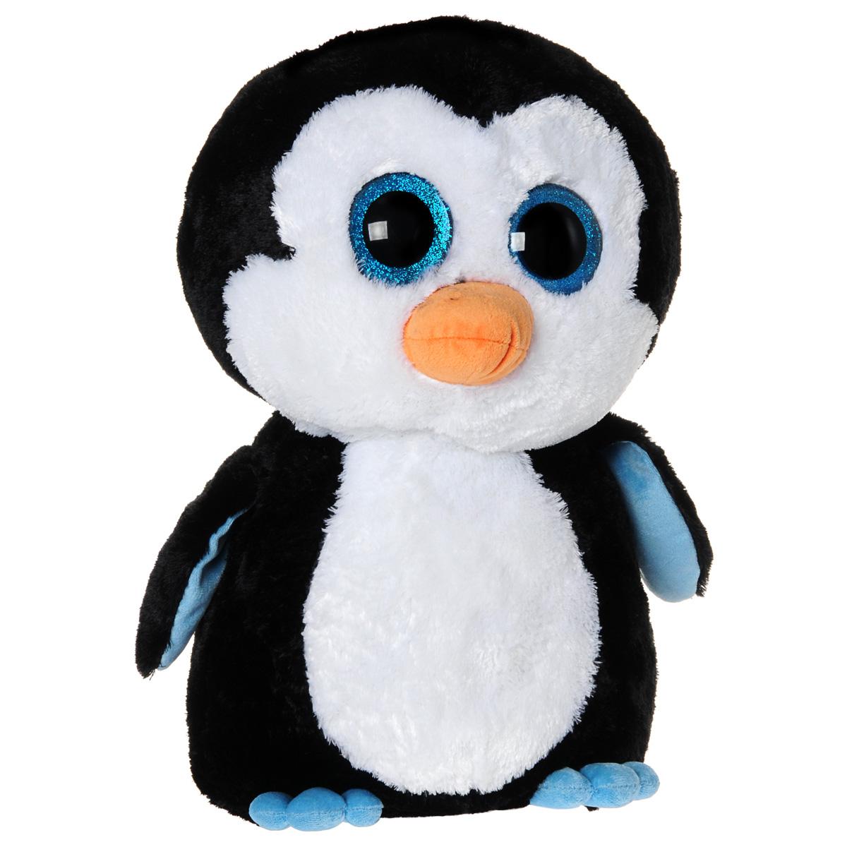 Мягкая игрушка Beanie Boos Пингвин Waddles, 47 см36803Очаровательная мягкая игрушка Beanie Boos Пингвин Waddles, выполненная в виде милого пингвина, непременно вызовет улыбку и симпатию и у детей, и у взрослых. Забавный пингвинчик с выразительными искрящимися глазками изготовлен из высококачественного мягкого текстильного материала с набивкой из синтепона. Как и все игрушки серии Beanie Boos, эта игрушка изготовлена вручную, с любовью и вниманием к деталям. Удивительно мягкая игрушка принесет радость и подарит своему обладателю мгновения нежных объятий и приятных воспоминаний. Великолепное качество исполнения делают эту игрушку чудесным подарком к любому празднику.