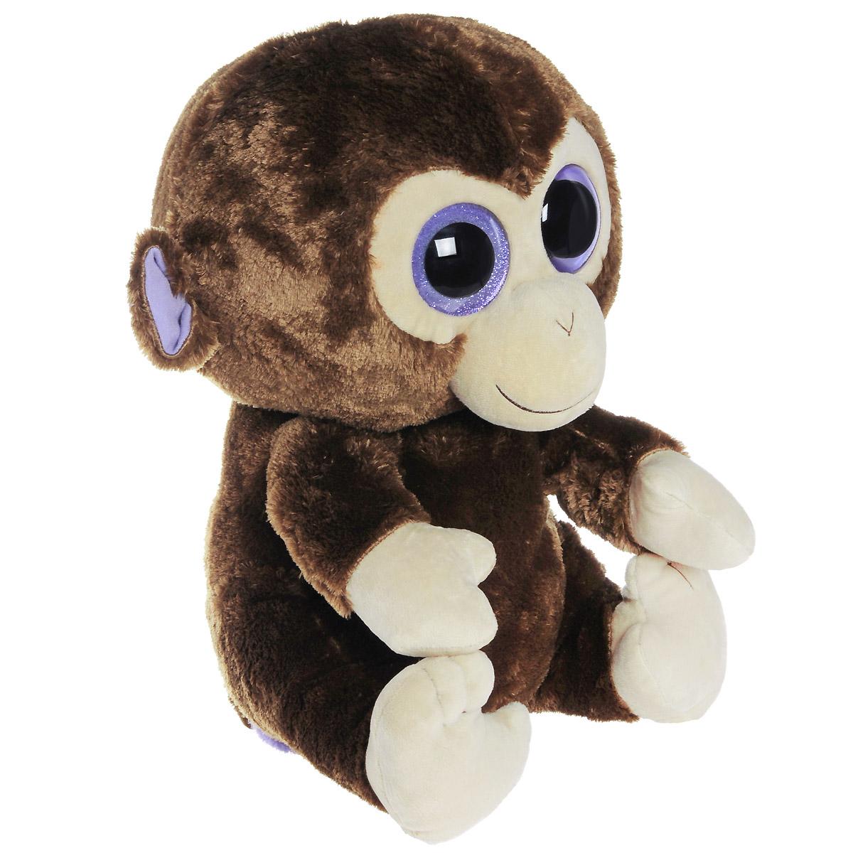 Мягкая игрушка Beanie Boos Обезьянка Coconut, 41 см36800Очаровательная мягкая игрушка Beanie Boos Обезьянка Coconut, выполненная в виде забавной обезьянки, непременно вызовет улыбку и симпатию и у детей, и у взрослых. Веселая обезьянка с выразительными искрящимися глазками изготовлена из высококачественного мягкого текстильного материала с набивкой из синтепона. Как и все игрушки серии Beanie Boos, она изготовлена вручную, с любовью и вниманием к деталям. Удивительно мягкая игрушка принесет радость и подарит своему обладателю мгновения нежных объятий и приятных воспоминаний. Великолепное качество исполнения делают эту игрушку чудесным подарком к любому празднику.