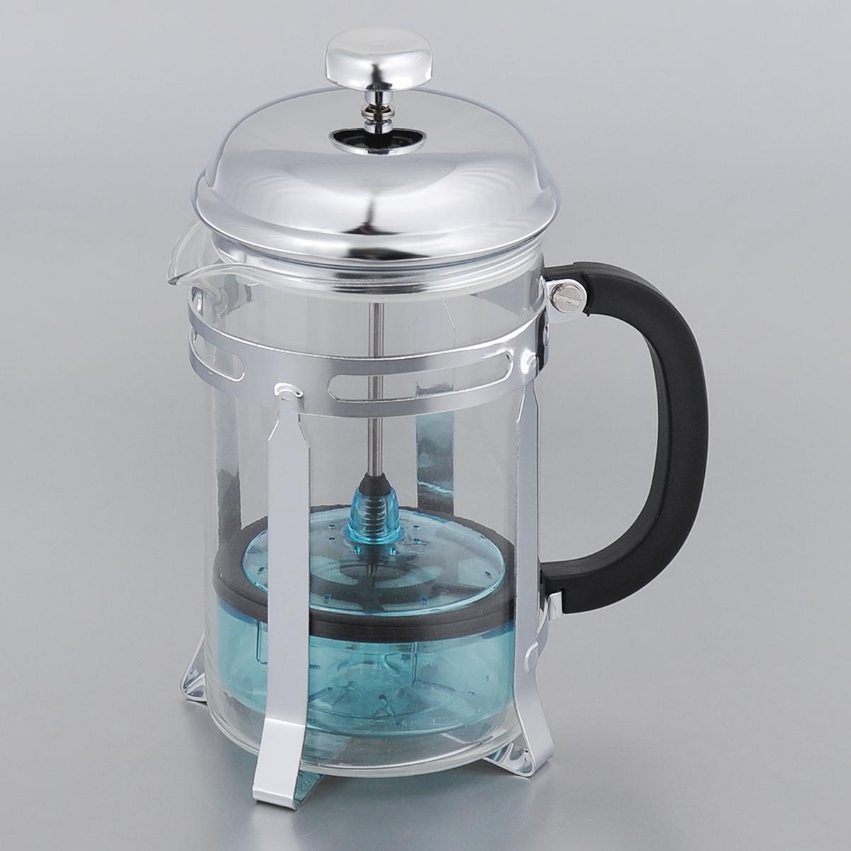 Френч-пресс Bekker, 850 мл. BK-355BK-355Френч-пресс Bekker представляет собой колбу из жаропрочного стекла в оправе из нержавеющей стали. Френч-пресс позволяет легко и просто приготовить отличный напиток. Крышка выполнена из нержавеющей стали. Благодаря такому френч-прессу приготовление вкуснейшего ароматного и крепкого кофе займет всего пару минут. Настоящим ценителям натурального кофе широко известны основные и наиболее часто применяемые способы его приготовления: эспрессо, по-турецки, гейзерный. Однако существует принципиально иной способ, известный как french press, благодаря которому приготовление ароматного напитка стало гораздо проще. Весь процесс приготовления кофе займет не более 7 минут. Можно мыть в посудомоечной машине.