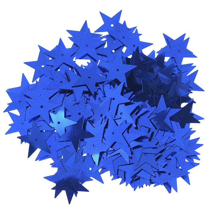 Пайетки Астра Звездочки, цвет: темно-синий (5), 20 мм, 10 г. 7700477_57700477_5Пайетки Астра Звездочки представляют собой блёстки, плоские чешуйки в форме пятиконечной звезды, изготовленные из пластика с отверстием для продевания нитки. Они позволят изыскано украсить любую вещь, идеальны для декора сценических костюмов, создания стилизованной одежды.