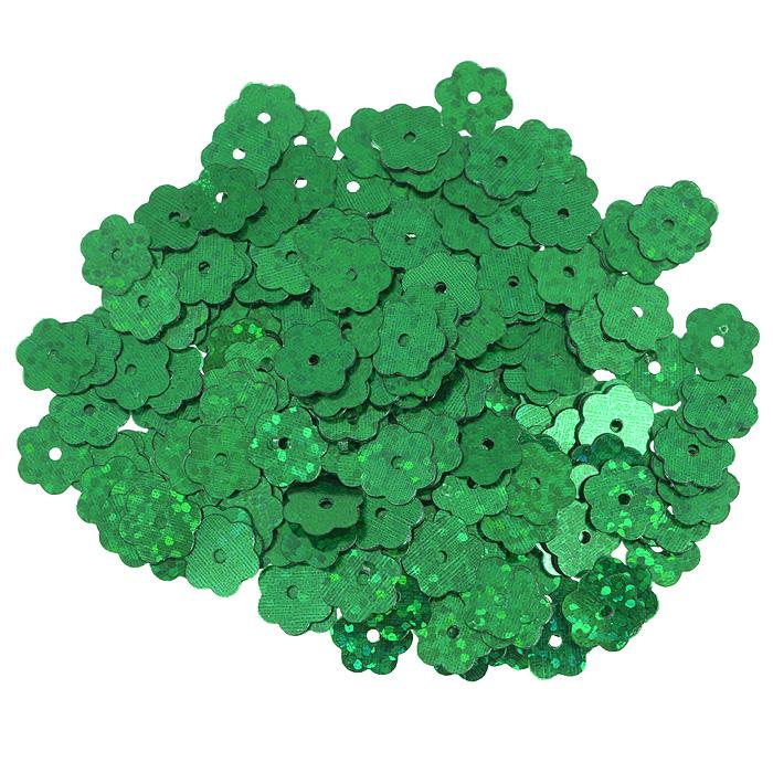 Пайетки Астра Цветочки, с голограммой, цвет: зеленый (50104), 10 мм, 10 г. 7700474_501047700474_50104Пайетки Астра Цветочки с голограммой представляют собой блёстки, плоские чешуйки в форме цветка, изготовленные из пластика с отверстием для продевания нитки. Они позволят изыскано украсить любую вещь, идеальны для декора сценических костюмов, создания стилизованной одежды.