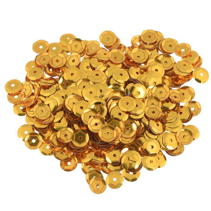 Пайетки граненые Астра, цвет: золотистый, 6 мм, 10 г. 7700472_А17700472_А1 золотоПайетки Астра выполнены в виде круглой чешуйки из блестящего пластика многогранной формы и с отверстием для продевания нитки. Они идеально подойдут для вышивания на предметах быта и женской одежде. Они позволят изыскано украсить любую вещь, подойдут для декора сценических костюмов, создания стилизованной одежды.