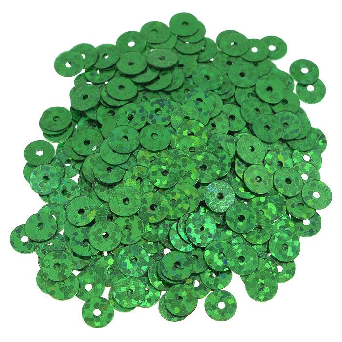 Пайетки плоские Астра, с голограммой, цвет: зеленый, 6 мм, 10 г. 7700471_501047700471_50104 зеленый голограммаПайетки Астра выполнены в виде круглой чешуйки из блестящего пластика многогранной формы и с отверстием для продевания нитки. Они идеально подойдут для вышивания на предметах быта и женской одежде. Они позволят изыскано украсить любую вещь, подойдут для декора сценических костюмов, создания стилизованной одежды.