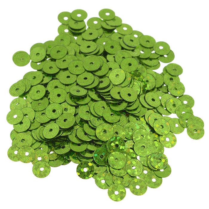 Пайетки плоские Астра, с голограммой, цвет: светло-зеленый, 6 мм, 10 г. 7700471_501057700471_50105 св.-зеленый голограммаПайетки Астра выполнены в виде круглой чешуйки из блестящего пластика многогранной формы и с отверстием для продевания нитки. Они идеально подойдут для вышивания на предметах быта и женской одежде. Они позволят изыскано украсить любую вещь, подойдут для декора сценических костюмов, создания стилизованной одежды.
