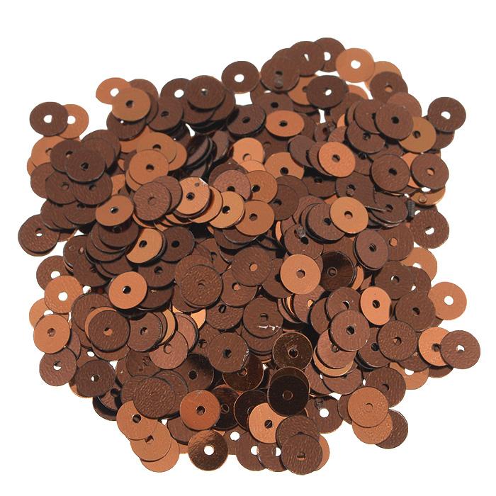 Пайетки плоские Астра, цвет: коричневый, 6 мм, 10 г. 7700471_147700471_14 коричневыйПайетки Астра выполнены в виде круглой чешуйки из блестящего пластика многогранной формы и с отверстием для продевания нитки. Они идеально подойдут для вышивания на предметах быта и женской одежде. Они позволят изыскано украсить любую вещь, подойдут для декора сценических костюмов, создания стилизованной одежды. Диаметр: 6 мм. Вес: 10 г.