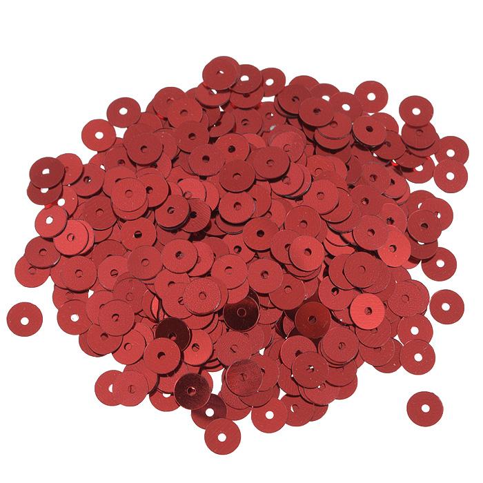 Пайетки плоские Астра, цвет: красный, 6 мм, 10 г. 7700471_37700471_3 красныйПайетки Астра выполнены в виде круглой чешуйки из блестящего пластика многогранной формы и с отверстием для продевания нитки. Они идеально подойдут для вышивания на предметах быта и женской одежде. Они позволят изыскано украсить любую вещь, подойдут для декора сценических костюмов, создания стилизованной одежды. Диаметр: 6 мм. Вес: 10 г.