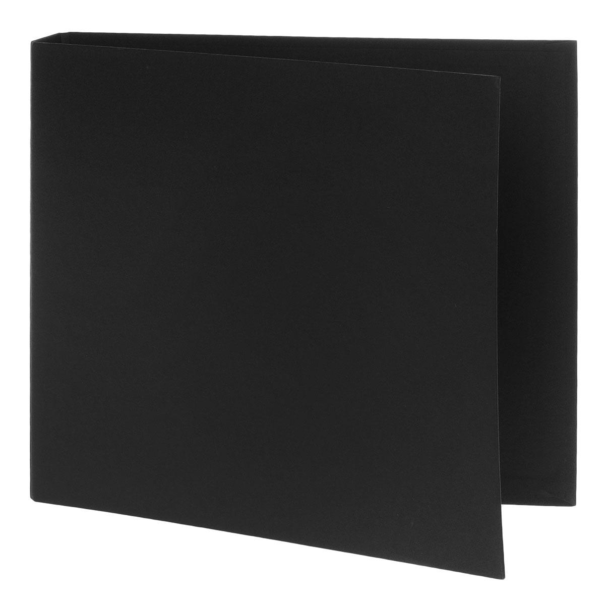 Папка для фотоальбома Folia с кольцами, цвет: черный, 26 см х 23 см