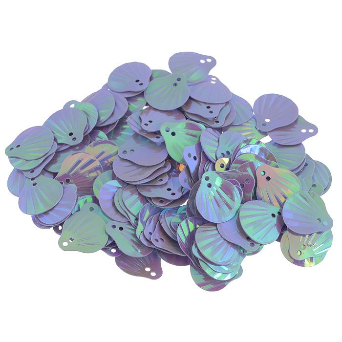 Пайетки Астра Ракушки, с перламутром, цвет: сиреневый (23), 13 мм х 14 мм, 10 г. 7700480_237700480_23Пайетки Астра Ракушки с перламутром представляют собой блёстки, плоские чешуйки в форме ракушки, изготовленные из пластика с двумя отверстиями для продевания нитки. Они позволят изыскано украсить любую вещь, идеальны для декора сценических костюмов, создания стилизованной одежды.