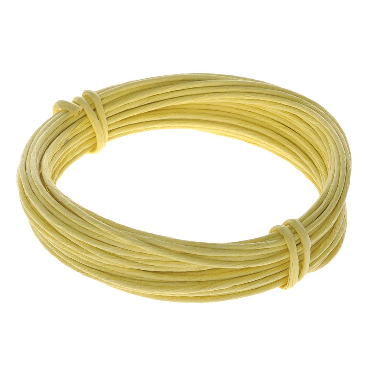 Проволока для рукоделия Folia, в бумажной оплетке, цвет: желтый, 1,5 мм х 10 м7708070Проволока для рукоделия Folia, изготовленная из алюминия с бумажной оплеткой, может быть использована для создания различных изделий бижутерии, для декора фотоальбомов, домашнего интерьера и других целей. Проволока - это очень распространенный и легкодоступный материал. Ее изготавливают из разных металлов и покрывают лаками разных цветов, благодаря чему она обладает прекрасными декоративными свойствами. Проволока является хорошим материалом для плетения, а для достижения эффектного украшения можно сочетать несколько цветов проволоки. Материал: алюминий, бумага. Длина проволоки: 10 м. Толщина проволоки: 1,5 мм.