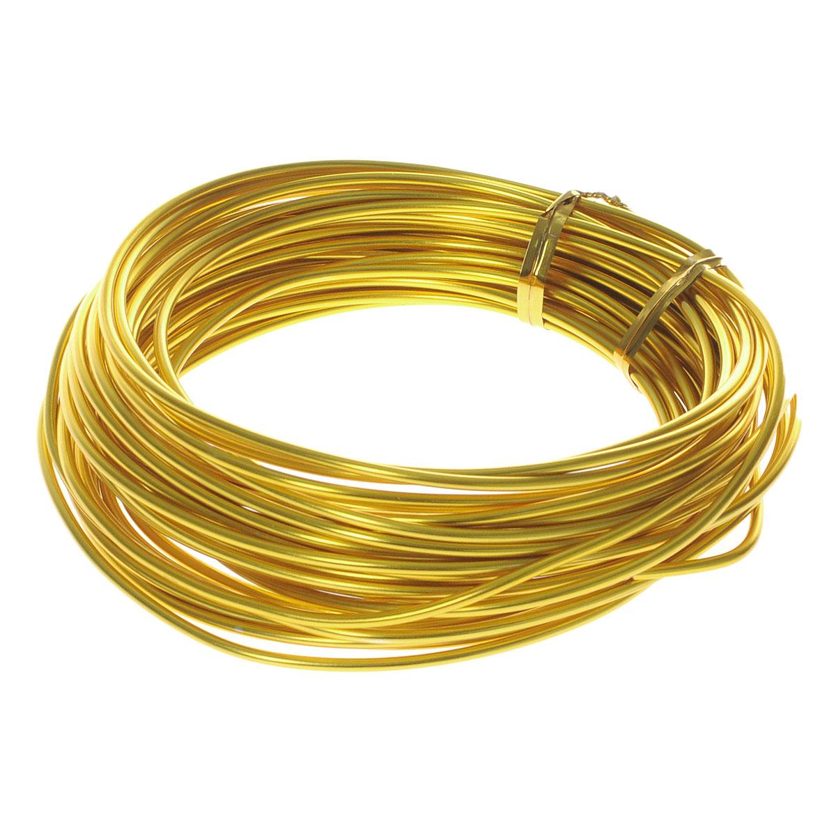 Проволока для рукоделия Астра, цвет: золотистый (17), 2 мм х 10 м7701211_17Проволока для рукоделия Астра, изготовленная из алюминия, может быть использована для создания различных изделий бижутерии, для декора фотоальбомов, домашнего интерьера и других целей. Проволока - это очень распространенный и легкодоступный материал. Ее изготавливают из разных металлов и покрывают лаками разных цветов, благодаря чему она обладает прекрасными декоративными свойствами. Проволока является хорошим материалом для плетения, а для достижения эффектного украшения можно сочетать несколько цветов проволоки.