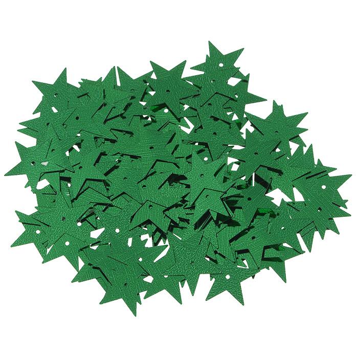 Пайетки Астра Звездочки, цвет: зеленый (4), 20 мм, 10 г. 7700477_47700477_4Пайетки Астра Звездочки представляют собой блёстки, плоские чешуйки в форме пятиконечной звезды, изготовленные из пластика с отверстием для продевания нитки. Они позволят изыскано украсить любую вещь, идеальны для декора сценических костюмов, создания стилизованной одежды.