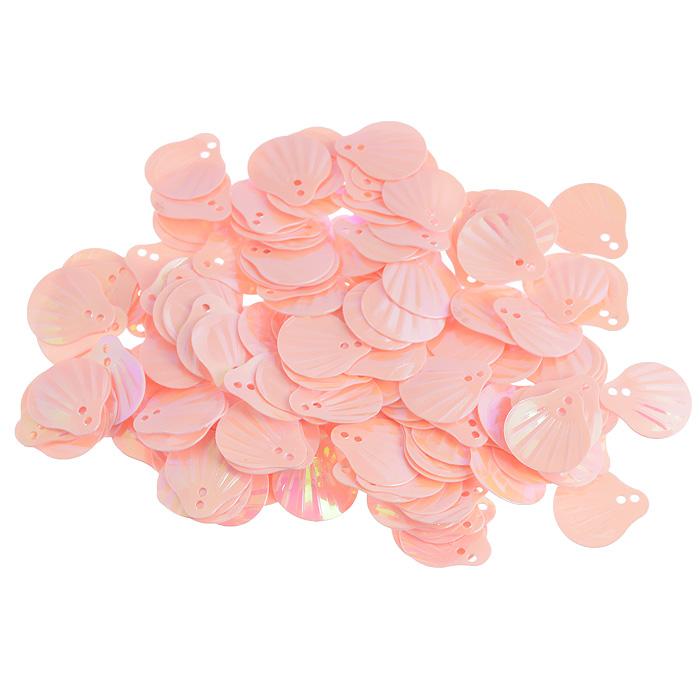 Пайетки Астра Ракушки, с перламутром, цвет: розовый (30), 13 мм х 14 мм, 10 г. 7700480_307700480_30Пайетки Астра Ракушки с перламутром представляют собой блёстки, плоские чешуйки в форме ракушки, изготовленные из пластика с двумя отверстиями для продевания нитки. Они позволят изыскано украсить любую вещь, идеальны для декора сценических костюмов, создания стилизованной одежды.