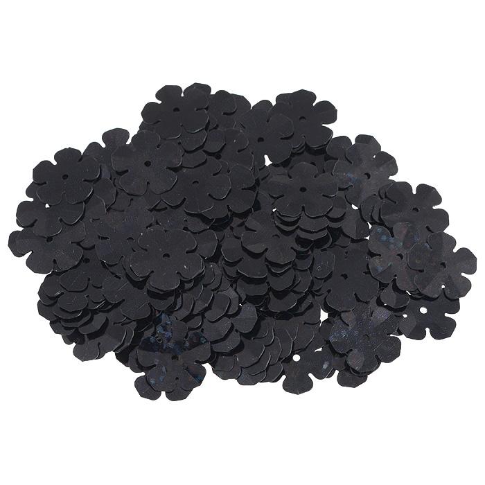 Пайетки Астра Цветочки, с голограммой, цвет: черный (А50), 16 мм, 10 г. 7700475_А507700475_А50Пайетки Астра Цветочки с голограммой представляют собой блёстки, плоские чешуйки в форме цветка, изготовленные из пластика с отверстием для продевания нитки. Они позволят изыскано украсить любую вещь, идеальны для декора сценических костюмов, создания стилизованной одежды.