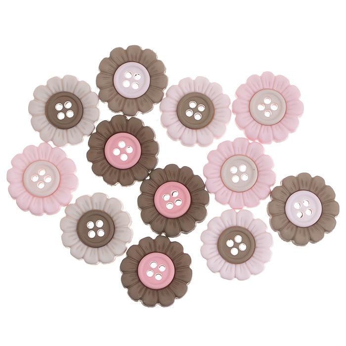 Пуговицы декоративные Dress It Up Пуговки-цветочки, 12 шт. 77045667704566Набор Dress It Up Пуговки-цветочки состоит из 12 декоративных пуговиц, выполненных из пластика. Такие пуговицы подходят для любых видов творчества: скрапбукинга, декорирования, шитья, изготовления кукол, а также для оформления одежды. С их помощью вы сможете украсить открытку, фотографию, альбом, подарок и другие предметы ручной работы. Пуговицы разных цветов имеют оригинальный и яркий дизайн.