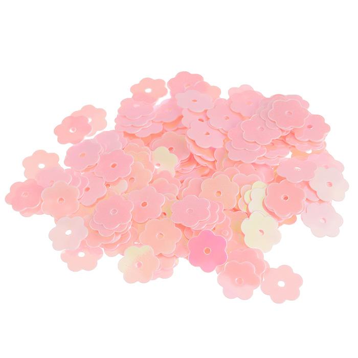 Пайетки Астра Цветочки, с перламутром, цвет: розовый (30), 10 мм, 10 г. 7700474_307700474_30Пайетки Астра Цветочки с перламутром представляют собой блёстки, плоские чешуйки в форме цветка, изготовленные из пластика с отверстием для продевания нитки. Они позволят изыскано украсить любую вещь, идеальны для декора сценических костюмов, создания стилизованной одежды.