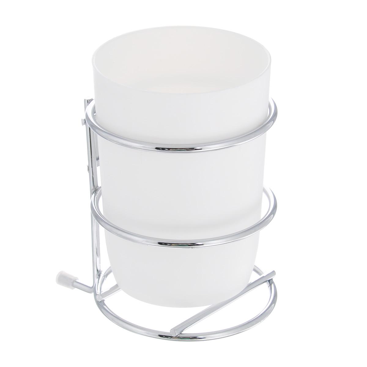 Стакан для зубных щеток Wenko Milazzo, с держателем16984100