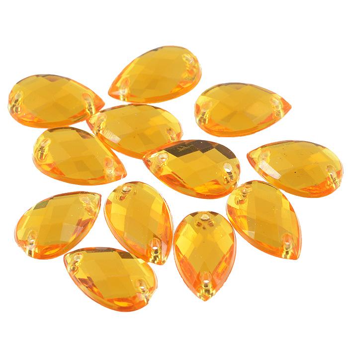 Стразы пришивные Астра, капля, цвет: светло оранжевый (11), 8 х 13 мм, 12 шт. 77016557701655_11 св.оранжевыйНабор страз Астра, изготовленный из акрила, позволит вам украсить одежду и аксессуары. Стразы оригинального и яркого дизайна выполнены в форме капли и оснащены отверстиям для пришивания. Украшение стразами поможет сделать любую вещь оригинальной и неповторимой. Размер страз: 8 х 13 мм.