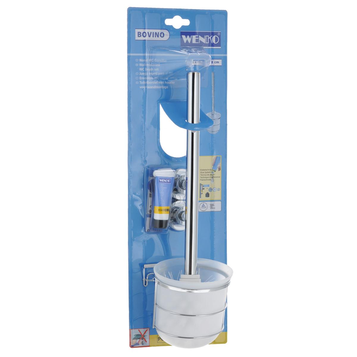 Ершик туалетный Wenko Bovino, с держателем17801100