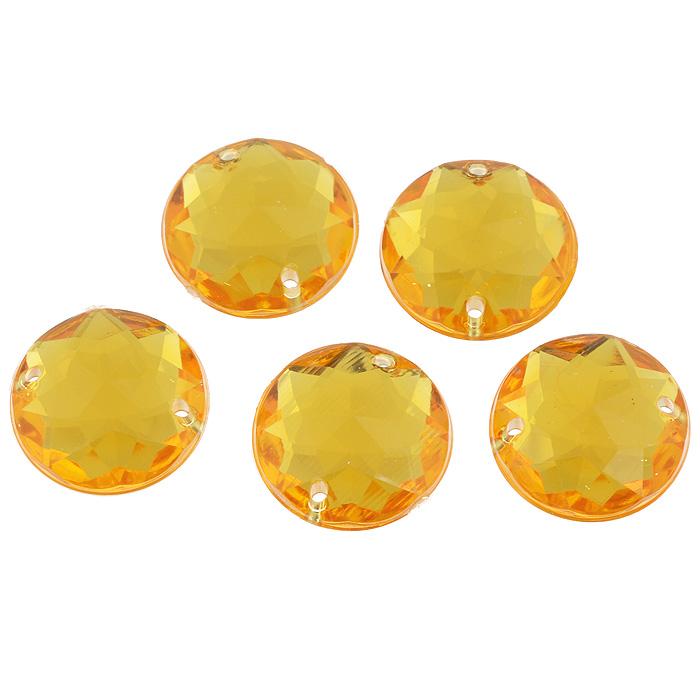 Стразы пришивные Астра, акриловые, круглые, цвет: светло-оранжевый (11), диаметр 20 мм, 5 шт. 7701647_117701647_11 св.оранжевыйНабор страз Астра, изготовленный из акрила, позволит вам украсить одежду и аксессуары. Стразы оригинального и яркого дизайна круглой формы оснащены отверстиями для пришивания. Украшение стразами поможет сделать любую вещь оригинальной и неповторимой. Диаметр: 20 мм.