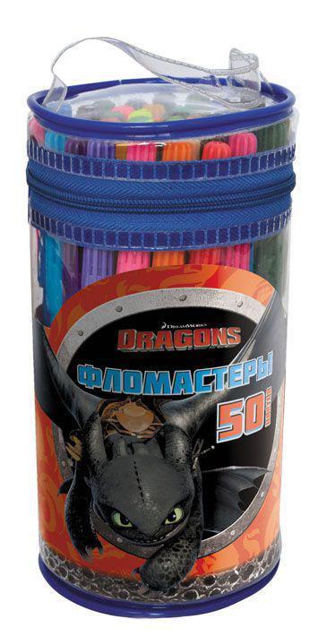 Набор фломастеров DRAGONS, 50 цв.,п/п ведро с ручкойDR-AWP205-50Особенности: