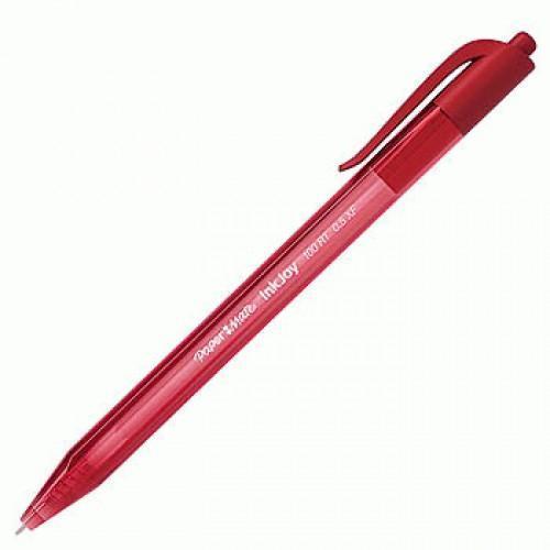 Ручка автоматическая шариковая INKJOY 100, треугольный корпус, красная, 0,5 мм