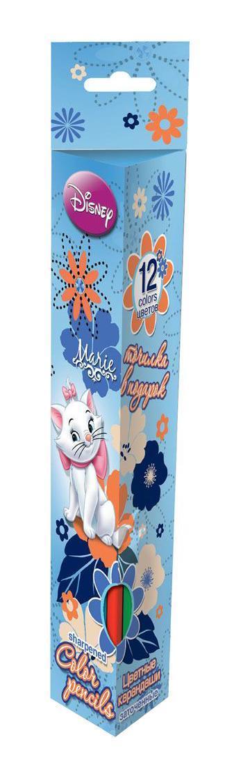 Набор цветных карандашей (треугольные), 12 шт. Цветные карандаши длиной 17,8 см; заточенные; дерево - липа; цветной грифель 3 мм; карандаш в цвет грифеля с логотипом; логотип - тиснение