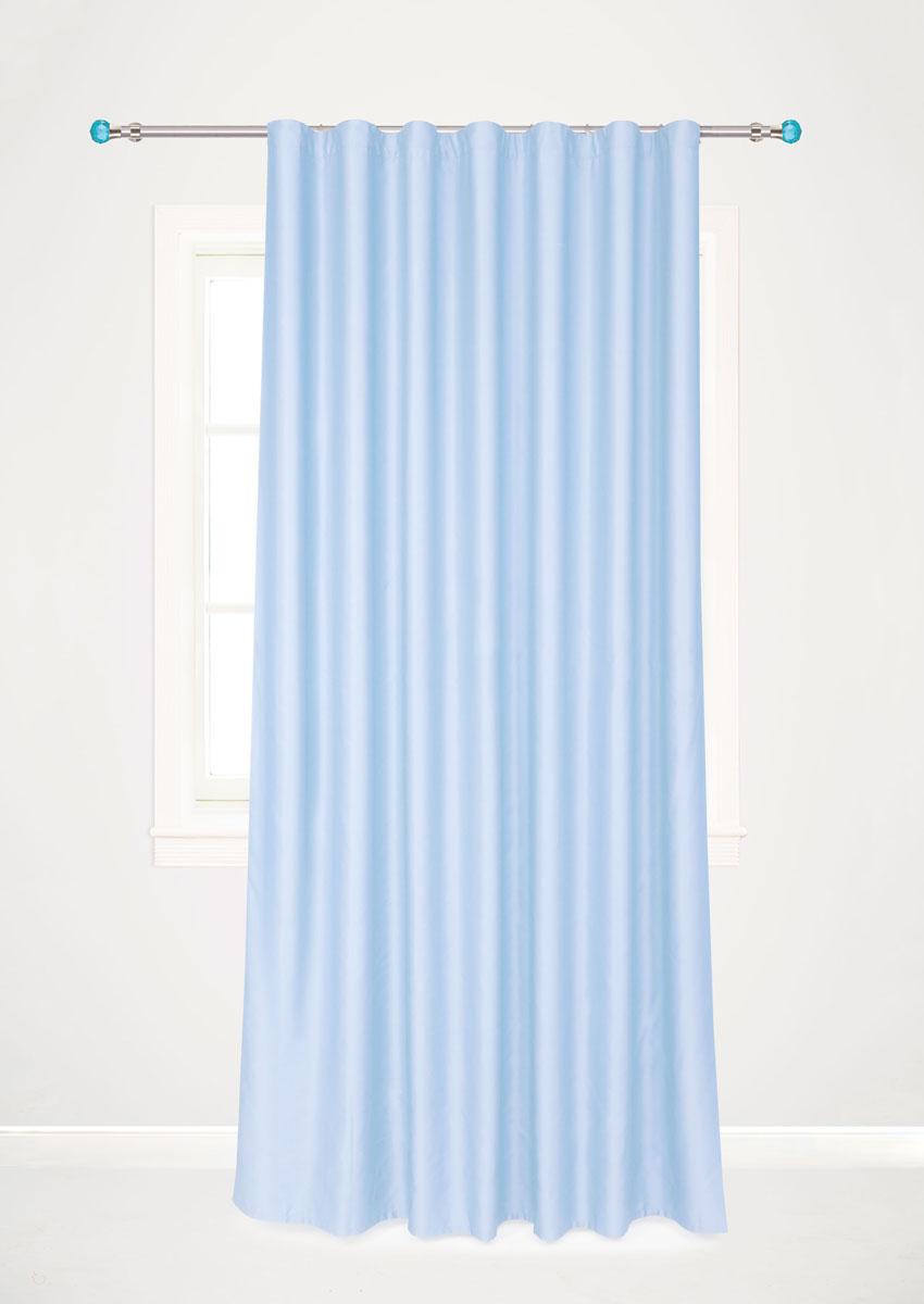 Штора для гостиной Garden, на ленте, цвет: голубой, размер 200 х 260 см. с w1223 V79150с w1223 V79150Роскошная штора-портьера Garden выполнена из сатина (100% полиэстера). Материал плотный и мягкий на ощупь. Оригинальная текстура ткани и нежный цвет привлекут к себе внимание и органично впишутся в интерьер помещения. Эта штора будет долгое время радовать вас и вашу семью! Штора крепится на карниз при помощи ленты, которая поможет красиво и равномерно задрапировать верх. Стирка при температуре 30°С.