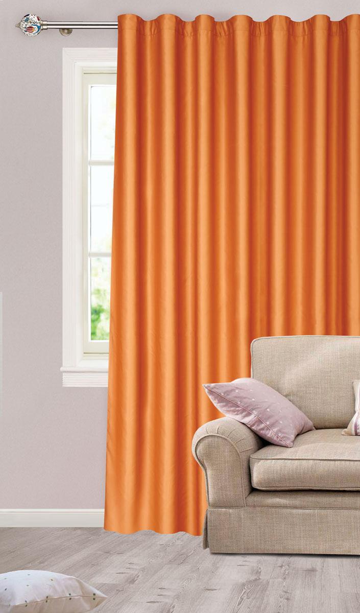 Штора для гостиной Garden, на ленте, цвет: медный, размер 200*260 см. сw1223 V75047с w1223 V75047Роскошная штора-портьера Garden выполнена из сатина (100% полиэстера). Материал плотный и мягкий на ощупь. Оригинальная текстура ткани и нежный цвет привлекут к себе внимание и органично впишутся в интерьер помещения. Эта штора будет долгое время радовать вас и вашу семью! Штора крепится на карниз при помощи ленты, которая поможет красиво и равномерно задрапировать верх. Стирка при температуре 30°С.