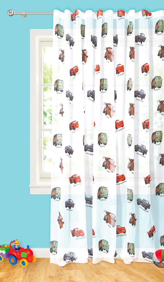 Штора готовая для гостиной Garden Разноцветные автобусы, на ленте, цвет: белый, размер 300*260 смС 10236 - W191 V2Изящная тюлевая штора Garden Разноцветные автобусы выполнена из высококачественной вуали (полиэстера). Полупрозрачная ткань, приятный цвет привлекут к себе внимание и органично впишутся в интерьер помещения. Такая штора идеально подходит для солнечных комнат. Мягко рассеивая прямые лучи, она хорошо пропускает дневной свет и защищает от посторонних глаз. Отличное решение для многослойного оформления окон. Эта штора будет долгое время радовать вас и вашу семью! Штора крепится на карниз при помощи ленты, которая поможет красиво и равномерно задрапировать верх.