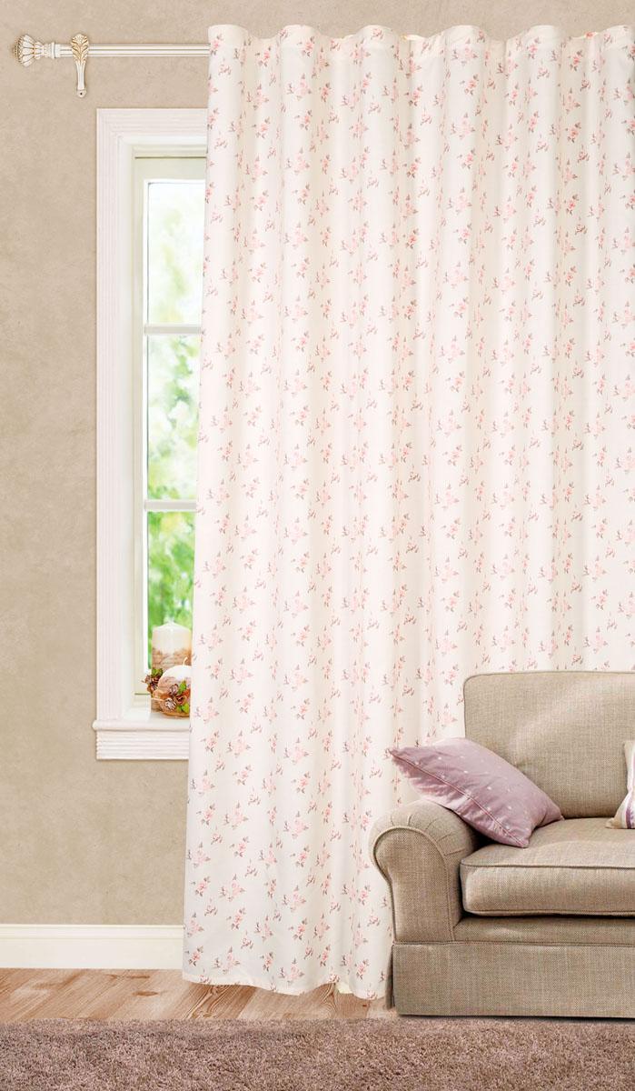 Штора готовая для гостиной Garden, на ленте, цвет: лаванда, размер 200*260 см. С 7255 - W1687 V14С 7255 - W1687 V14Роскошная портьерная штора Garden выполнена из плотного репса (100% полиэстера). Материал плотный и мягкий на ощупь. Оригинальная текстура ткани и цветочный принт привлекут к себе внимание и органично впишутся в интерьер помещения. Эта штора будет долгое время радовать вас и вашу семью! Штора крепится на карниз при помощи ленты, которая поможет красиво и равномерно задрапировать верх. Стирка при температуре 30°С.