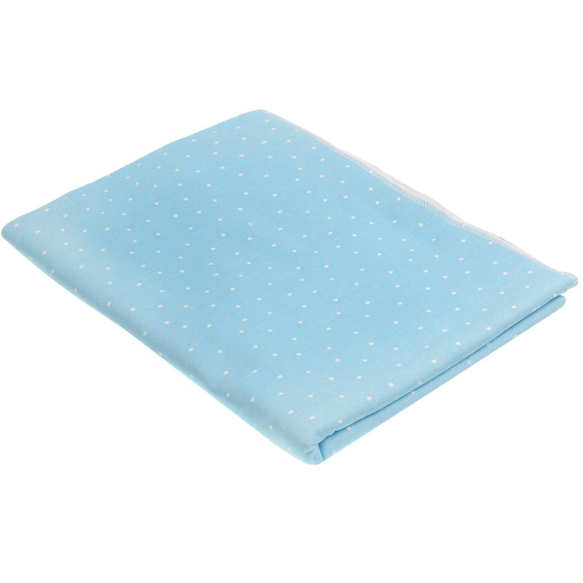 Пеленка трикотажная Трон-плюс, цвет: голубой, белый, 120 см х 90 см5411 гол горДетская пеленка Трон-Плюс подходит для пеленания ребенка с самого рождения. Она невероятно мягкая и нежная на ощупь. Пеленка выполнена из футера - натурального трикотажного материала из хлопка, гладкого с внешней стороны, мягкого и нежного с внутренней. Такая ткань прекрасно пропускает воздух, она гипоаллергенна, не раздражает чувствительную кожу ребенка, почти не мнется и не теряет формы после стирки. Мягкая ткань укутывает малыша с необычайной нежностью. Пеленку также можно использовать как легкое одеяло в жаркую погоду, простынку, полотенце после купания, накидку для кормления грудью или солнцезащитный козырек. Ее размер подходит для пеленания даже крупного малыша.