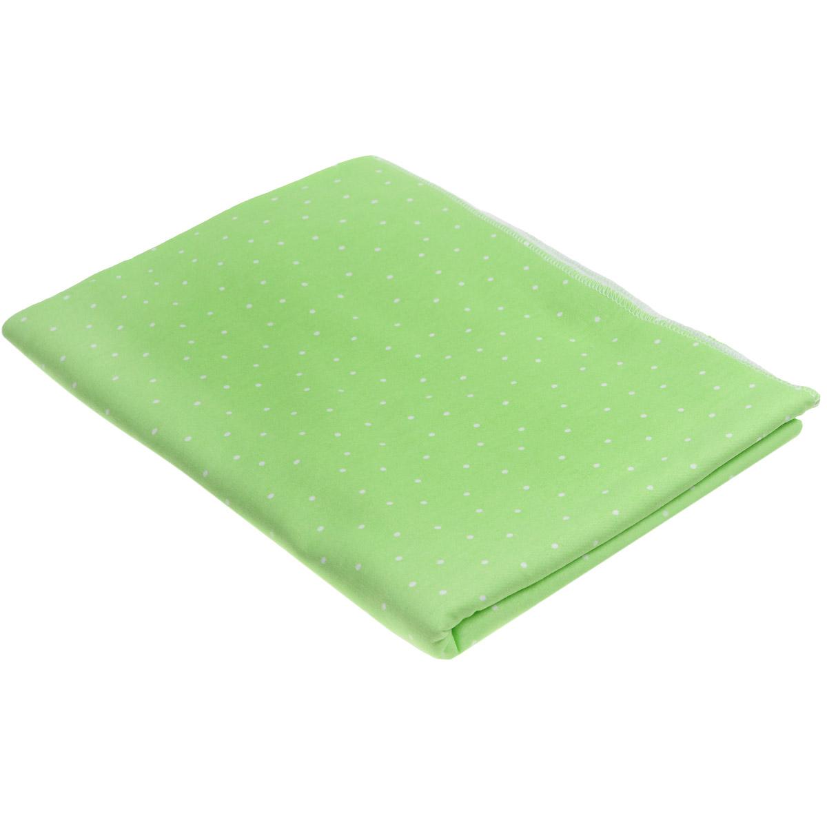 Пеленка трикотажная Трон-плюс, цвет: салатовый, белый, 120 см х 90 см5411 сал горДетская пеленка Трон-Плюс подходит для пеленания ребенка с самого рождения. Она невероятно мягкая и нежная на ощупь. Пеленка выполнена из футера - натурального трикотажного материала из хлопка, гладкого с внешней стороны, мягкого и нежного с внутренней. Такая ткань прекрасно пропускает воздух, она гипоаллергенна, не раздражает чувствительную кожу ребенка, почти не мнется и не теряет формы после стирки. Мягкая ткань укутывает малыша с необычайной нежностью. Пеленку также можно использовать как легкое одеяло в жаркую погоду, простынку, полотенце после купания, накидку для кормления грудью или солнцезащитный козырек. Ее размер подходит для пеленания даже крупного малыша.