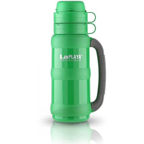 Термос LaPlaya Traditional 35, цвет: зеленый, 500 мл560004Термос со стеклянной колбой LaPlaya Traditional 35, изготовленный из высококачественного пластика, предназначен для супов, горячих и охлажденных напитков. Особенности термоса: - Прочная и надежная стеклянная колба. - Полноразмерная чашка с ручкой. - Завинчивающаяся пробка с контейнером для сахара, пакетика чая, кофе, сухого молока. - Прорезиненная ручка для надежного захвата против выскальзывания. Высота термоса: 28 см. Диаметр термоса: 10 см. Сохраняет тепло: 8 ч. Сохраняет холод: 24 ч.